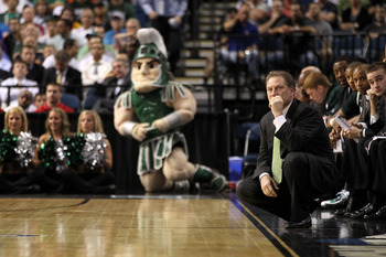 TAMPA, FL - MARCH 17:  Head coach Tom Izzo of the Michigan State Spartans looks on from the sideline against the UCLA Bruins during the second round of the 2011 NCAA men's basketball tournament at St. Pete Times Forum on March 17, 2011 in Tampa, Florida.