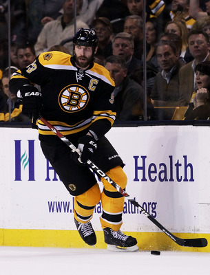 At 6'9 Chara has a undeniable offensive and defensive presence on the ice.
