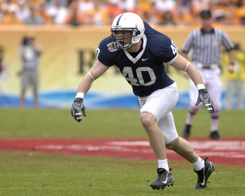 Penn State linebacker Dan Connor during the 2007 Outback Bowl between Penn State and Tennessee at Raymond James Stadium in Tampa, Florida on January 1, 2007. (Photo by A. Messerschmidt/Getty Images) *** Local Caption ***