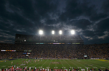 BATON ROUGE, LA - NOVEMBER 20:  A general view of Tiger Stadium during the game between the Louisiana State University Tigers and the Ole Miss Rebels at Tiger Stadium on November 20, 2010 in Baton Rouge, Louisiana.  (Photo by Kevin C. Cox/Getty Images)