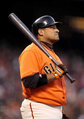 SAN FRANCISCO - MAY 14:  Bengie Molina #1 of the San Francisco Giants bats against the Houston Astros at AT&T Park on May 14, 2010 in San Francisco, California.  (Photo by Ezra Shaw/Getty Images)
