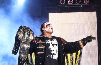 Current Champion, Sting. Photo courtesy of impactwrestling.com