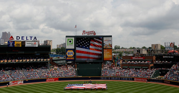 ATLANTA - MAY 31:  The Atlanta Braves honor Memorial Day before facing the Philadelphia Phillies at Turner Field on May 31, 2010 in Atlanta, Georgia.  (Photo by Kevin C. Cox/Getty Images)