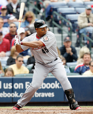 ATLANTA, GA - MAY 17:  Carlos Lee #45 of the Houston Astros against the Atlanta Braves at Turner Field on May 17, 2011 in Atlanta, Georgia.  (Photo by Kevin C. Cox/Getty Images)