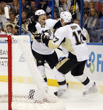 Arron Asham lead the Pens in goals during the 2011 playoffs.