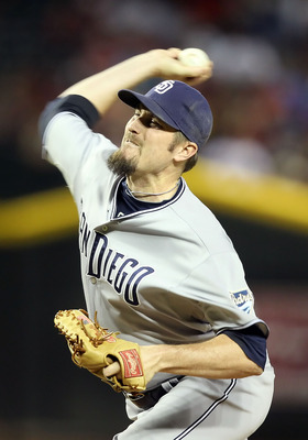 PHOENIX, AZ - MAY 16:  Relief pitcher Chad Qualls #50 of the San Diego Padres pitches against the Arizona Diamondbacks during the Major League Baseball game at Chase Field on May 16, 2011 in Phoenix, Arizona.  (Photo by Christian Petersen/Getty Images)