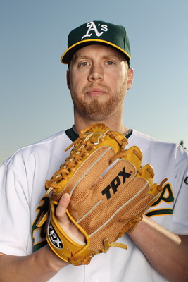 PHOENIX, AZ - FEBRUARY 24:  Josh Outman #88 of the Oakland Athletics poses for a portrait during media photo day at Phoenix Municipal Stadium on February 24, 2011 in Phoenix, Arizona.  (Photo by Ezra Shaw/Getty Images)
