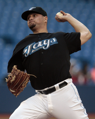 TORONTO, CANADA - MAY 20: Jo-Jo Reyes #37 of the Toronto Blue Jays throws during MLB action against the Houston Astros at the Rogers Centre May 20, 2011 in Toronto, Ontario, Canada. (Photo by Abelimages/Getty Images)