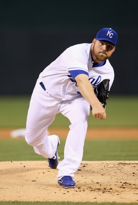 KANSAS CITY, MO - APRIL 21:  Starting pitcher Sean O'Sullivan #37 of the Kansas City Royals in action during the game against the Cleveland Indians on April 21, 2011 at Kauffman Stadium in Kansas City, Missouri.  (Photo by Jamie Squire/Getty Images)