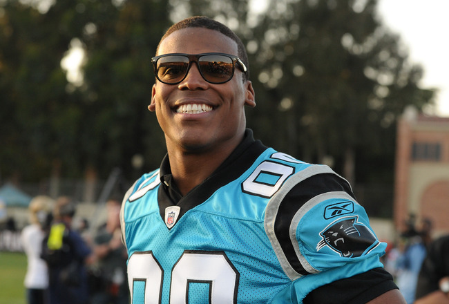 LOS ANGELES, CA - MAY 20:  Cam Newton attends the NFL PLAYERS Premiere League Flag Football Game at UCLA on May 20, 2011 in Los Angeles, California.  (Photo by Noel Vasquez/Getty Images)