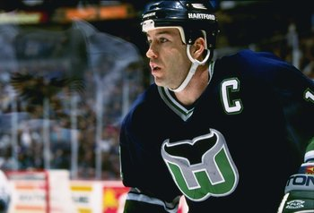 31 Jan 1997:  Rightwinger Kevin Dineen of the Hartford Whalers looks on during a game against the Anaheim Mighty Ducks at Arrowhead Pond in Anaheim, California.  The Ducks won the game, 6-3. Mandatory Credit: Todd Warshaw  /Allsport