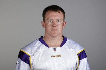 EDEN PRAIRIE, MN - CIRCA 2010:  In this handout image provided by the NFL,  Toby Gerhart poses for his 2010 NFL headshot circa 2010 in Eden Prairie, Minnesota.  (Photo by NFL via Getty Images)