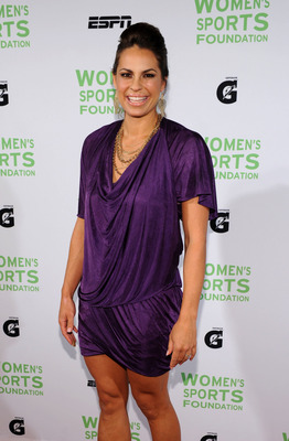 NEW YORK - OCTOBER 12:  Olympic Softball player Jessica Mendoza attends the 31st Annual Salute to Women in Sports gala at The Waldorf-Astoria on October 12, 2010 in New York City.  (Photo by Bryan Bedder/Getty Images)