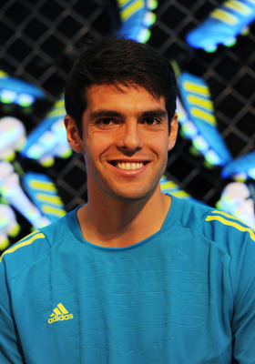 LONDON, ENGLAND - MAY 17: Kaka of Real Madrid attends the launch of the new adidas Predator boot at the Truman Brewery on May 17, 2011 in London, England.  (Photo by Gary Prior/Getty Images for adidas)