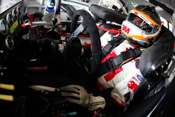 CHARLOTTE, NC - MAY 28:  Greg Biffle, driver of the #16 3M Ford, sits in his car during practice for the NASCAR Sprint Cup Series Coca-Cola 600 at Charlotte Motor Speedway on May 28, 2011 in Charlotte, North Carolina.  (Photo by Chris Graythen/Getty Image
