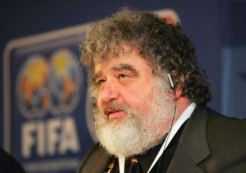 FRANKFURT, GERMANY - NOVEMBER 1:  Chuck Blazer, a Member of FIFA World Cup Organizing Committee, attends a press conference for The Confederations Cup Germany 2005 draw at The Alte Oper, on November 1, 2004 in Frankfurt, Germany.  (Photo by Stuart Frankli