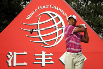 SHANGHAI, CHINA - NOVEMBER 05:  Tiger Woods of the USA on the during the second round of the WGC - HSBC Champions at Sheshan International Golf Club on November 5, 2010 in Shanghai, China.  (Photo by Ross Kinnaird/Getty Images)