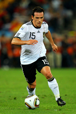 DURBAN, SOUTH AFRICA - JULY 07:  Piotr Trochowski of Germany in action during the 2010 FIFA World Cup South Africa Semi Final match between Germany and Spain at Durban Stadium on July 7, 2010 in Durban, South Africa.  (Photo by Cameron Spencer/Getty Image