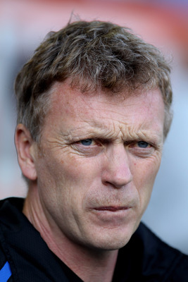 LIVERPOOL, ENGLAND - MAY 07:  Everton Manager David Moyes looks on prior to the Barclays Premier League match between Everton and Manchester City at Goodison Park on May 7, 2011 in Liverpool, England.  (Photo by Alex Livesey/Getty Images)