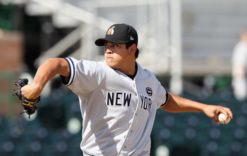 Manuel Banuelos, a prospect who is NOT going to be traded by the Yankees.
