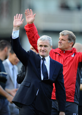 LONDON, ENGLAND - MAY 22:  Mark Hughes, manager of Fulham after the Barclays Premier League match between Fulham and Arsenal at Craven Cottage on May 22, 2011 in London, England.  (Photo by Clive Mason/Getty Images)