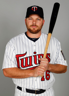 FORT MYERS, FL - FEBRUARY 25:  Outfielder Jason Kubel #16 of the Minnesota Twins poses for a photo during photo day at Hammond Stadium on February 25, 2011 in Fort Myers, Florida.  (Photo by J. Meric/Getty Images)