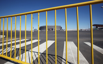 EAST RUTHERFORD, NJ - MARCH 03:  A parking lot sits empty at New Meadowlands Stadium, home of the NFL's New York Jets and New York Giants, March 3, 2011 in East Rutherford, New Jersey. Last minute negotiations between the NFL owners and its players union