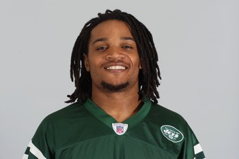 EAST RUTHERFORD, NJ - 2009:  Emanuel Cook of the New York Jets poses for his 2009 NFL headshot at photo day in East Rutherford, New Jersey.  (Photo by NFL Photos)