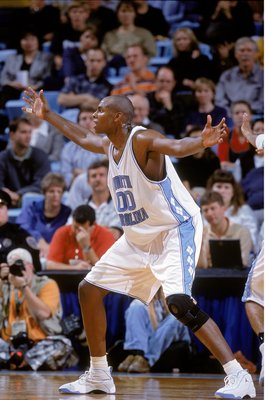 10 Nov 2000: Brendan Haywood #00 of the North Carolina Tar Heels moves on the court during the game against the Winthrop Eagles at Dean E. Smith Center in Chaple Hill, North Carolina. The Tar Heels defeated the Eagles 66-61.Mandatory Credit: Craig Jones