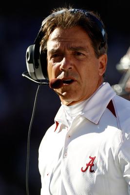 Alabama head coach Nick Saban