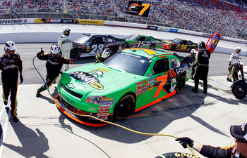 BRISTOL, TN - MARCH 19:  Danica Patrick, pits the #5 GoDaddy.com Chevrolet, during the NASCAR Nationwide Series Scotts EZ Seed 300 at Bristol Motor Speedway on March 19, 2011 in Bristol, Tennessee.  (Photo by Jason Smith/Getty Images for NASCAR)