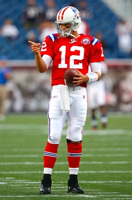 tom brady red throwback jersey
