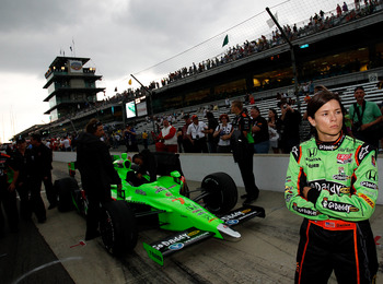 INDIANAPOLIS - MAY 22:  Danica Patrick waits to drive her #7 Team GoDaddy Andretti Autosport Dallara Honda during qualifying for the the 95th Indianapolis 500 Mile Race at the Indianapolis Motor Speedway on May 22, 2011 in Indianapolis, Indiana.  (Photo b