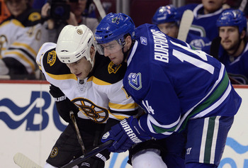 Boston's Milan Lucic and Vancouver's Alex Burrows will renew their rivalry in the 2011 Stanley Cup Finals