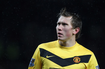 MANCHESTER, ENGLAND - DECEMBER 01:  Tomasz Kuszczak of Manchester United looks on during the Carling Cup Quarter Final match between Manchester United and Tottenham Hotspur at Old Trafford on December 1, 2009 in Manchester, England. (Photo by Alex Livesey