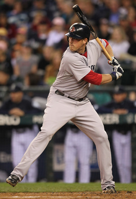 SEATTLE - SEPTEMBER 13:  Lars Anderson #44 of the Boston Red Sox bats against the Seattle Mariners at Safeco Field on September 13, 2010 in Seattle, Washington. (Photo by Otto Greule Jr/Getty Images)