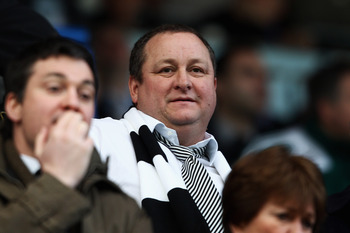 BLACKBURN, ENGLAND - FEBRUARY 12:  Newcastle Owner Mike Ashley looks on during the Barclays Premier League match between Blackburn Rovers and Newcastle United at Ewood Park on February 12, 2011 in Blackburn, England.  (Photo by Dean Mouhtaropoulos/Getty I