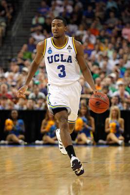 TAMPA, FL - MARCH 17:  Malcolm Lee #3 of the UCLA Bruins brings the ball up court against the Michigan State Spartans during the second round of the 2011 NCAA men's basketball tournament at St. Pete Times Forum on March 17, 2011 in Tampa, Florida.  (Photo