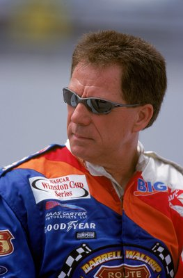3 Aug 2000:  Driver Darrell Waltrip #66 who drives a Ford Taurus for Travis Carter Motorsports looks on the track during the Brickyard 400, part of the NASCAR Winston Cup Series at the Indianapolis Motorspeedway in Indianapolis, Indiana.Mandatory Credit:
