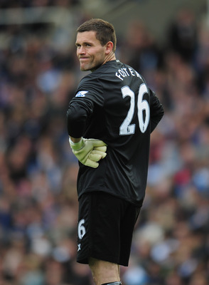 BIRMINGHAM, ENGLAND - MAY 15:  Birmingham City goalkeeper Ben Foster looks frustrated during the Barclays Premier League match between Birmingham City and Fulham at St. Andrews on May 15, 2011 in Birmingham, England.  (Photo by Shaun Botterill/Getty Image