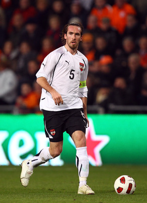 EINDHOVEN, NETHERLANDS - FEBRUARY 09:  Christian Fuchs of Austria during the International Friendly match between The Netherlands and Austria at the Phillips Stadion on February 9, 2011 in Eindhoven, Netherlands.  (Photo by Richard Heathcote/Getty Images)