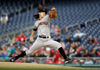 Pitcher Tim Lincecum has a 2.22 ERA after eleven starts during the 2011 season.