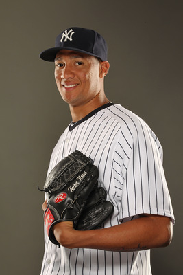 TAMPA, FL - FEBRUARY 23:  Hector Noesi #74 of the New York Yankees poses for a portrait on Photo Day at George M. Steinbrenner Field on February 23, 2011 in Tampa, Florida.  (Photo by Al Bello/Getty Images)