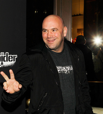 LAS VEGAS - FEBRUARY 15:  UFC President Dana White arrives at UFC, Famous Stars and Straps and New Era's 'The Magic Party' at XS the nightclub on February 15, 2011 in Las Vegas, Nevada.  (Photo by Isaac Brekken/Getty Images)