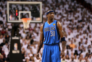 MIAMI, FL - MAY 31:  Jason Terry #31 of the Dallas Mavericks looks on against the Miami Heat in Game One of the 2011 NBA Finals at American Airlines Arena on May 31, 2011 in Miami, Florida. NOTE TO USER: User expressly acknowledges and agrees that, by dow