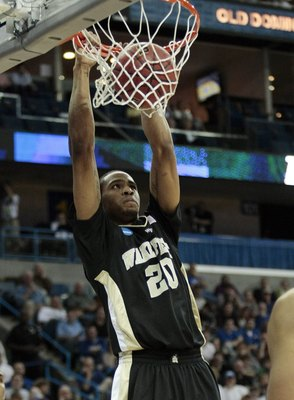 NEW ORLEANS - MARCH 20:  Ari Stewart #20 of the Wake Forest Deacon Demons shoots during the second round of the 2010 NCAA mens basketball tournament at the New Orleans Arena on March 20, 2010 in New Orleans, Louisiana.  (Photo by Dave Martin/Getty Images)