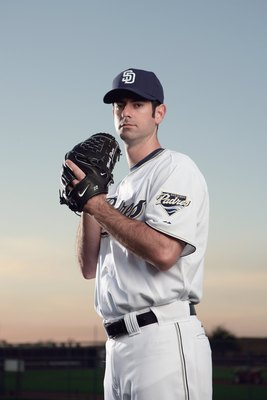PEORIA, AZ - FEBRUARY 24:  Mark Prior of the San Diego Padres poses during photo day at Peoria Stadium on February 24, 2009 in Peoria, Arizona. (Photo by Donald Miralle/Getty Images)
