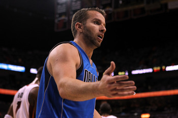 MIAMI, FL - MAY 31:  Jose Juan Barea #11 of the Dallas Mavericks reacts while taking on the Miami Heat in the first half in Game One of the 2011 NBA Finals at American Airlines Arena on May 31, 2011 in Miami, Florida. NOTE TO USER: User expressly acknowle