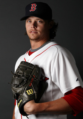 FT. MYERS, FL - FEBRUARY 20:  Clay Buchholz #11 of the Boston Red Sox poses for a portrait during the Boston Red Sox Photo Day on February 20, 2011 at the Boston Red Sox Player Development Complex in Ft. Myers, Florida  (Photo by Elsa/Getty Images)