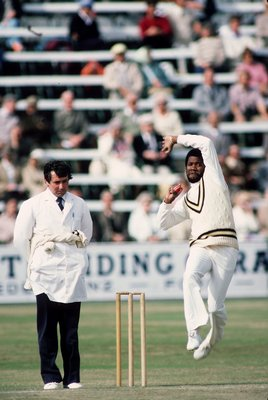 Sep 1983:  Malcolm Marshall of the West Indies runs in to bowl during an Asda Challenge Cup match at the Festival in Scarborough, England. \ Mandatory Credit: Adrian Murrell /Allsport